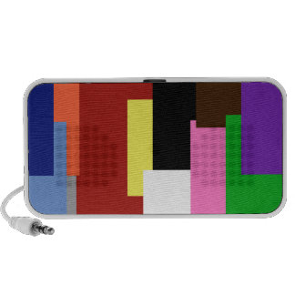 Rectangle Rainbow Doodle Travelling Speaker