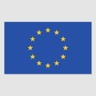 Rectangle sticker with Flag of European Union
