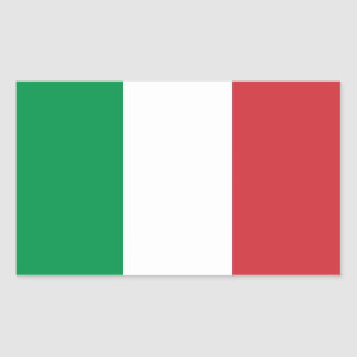 Rectangle sticker with Flag of Italy