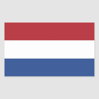 Rectangle sticker with Flag of Netherlands