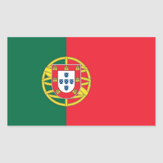 Rectangle sticker with Flag of Portugal