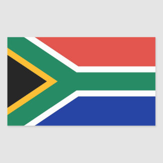 Rectangle sticker with Flag of South Africa