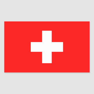 Rectangle sticker with Flag of Switzerland