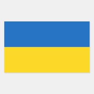 Rectangle sticker with Flag of Ukraine