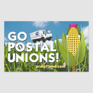 Rectangle Stickers (4/pg) - Go Postal Unions!