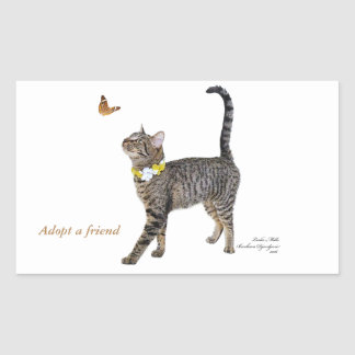 Rectangle Stickers Featuring Tabatha, the Tabby