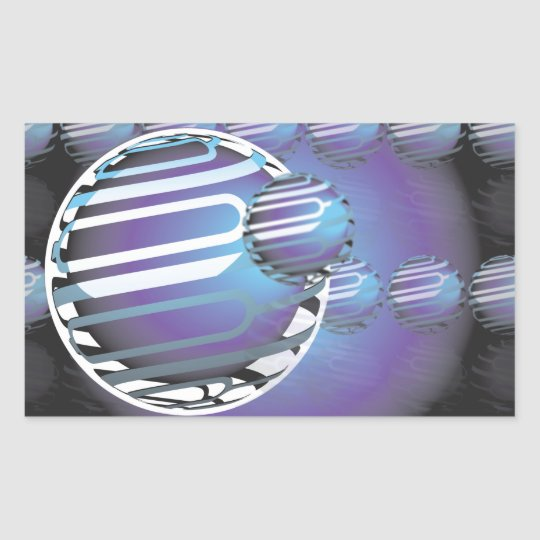 Rectangle Stickers, Matte SPHERICAL UNIVERSE Rectangular Sticker
