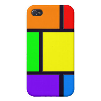 Rectangles and Squares iPhone 4 Cover