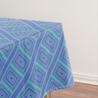 Rectangles Green Turquoise Purple Blue Geometric Tablecloth