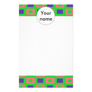 Rectangles pattern stationery