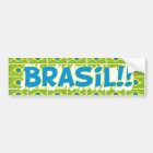 "Rectangular adhesive ""Brazil in the cup "" Bumper Sticker"
