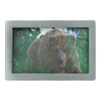 """Rectangular Belt Buckle -  """"Grizzly bear"""""""