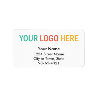 Rectangular company business logo return address address label
