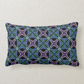 Rectangular cushion black mauve green Design blue