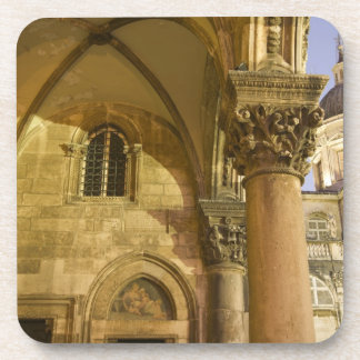 Rector's Palace Arches with Dubrovnik Cathedral Coaster