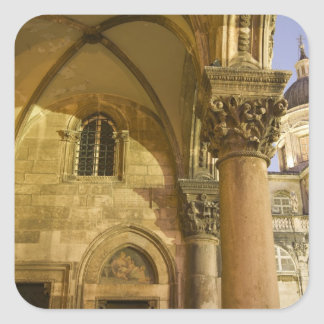 Rector's Palace Arches with Dubrovnik Cathedral Square Sticker