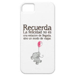Recuerda, la felicidad no es una estación de llega iPhone 5 cover