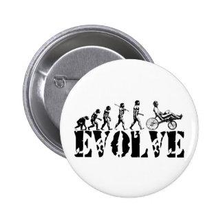 Recumbent Bicycle Evolution Fun Sports Art Pins