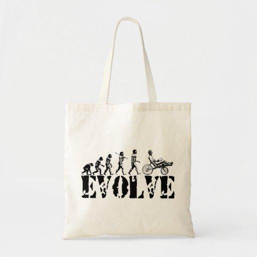 Recumbent Bicycle Evolution Fun Sports Art Tote Bag