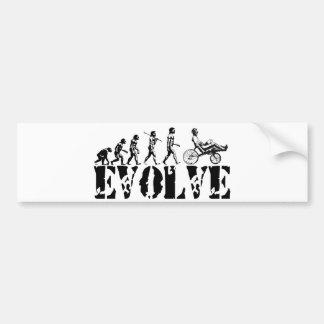 Recumbent Bicycle Evolution Fun Sports Art Bumper Sticker