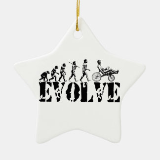 Recumbent Bicycle Evolution Fun Sports Art Christmas Ornament