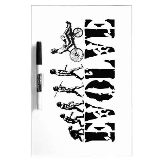 Recumbent Bicycle Evolution Fun Sports Art Dry-Erase Boards