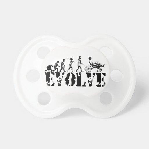 Recumbent Bicycle Evolution Fun Sports Art Pacifier