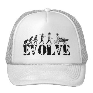 Recumbent Bicycle Evolution Fun Sports Art Trucker Hat