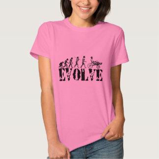 Recumbent Bicycle Evolution Fun Sports Art Shirts