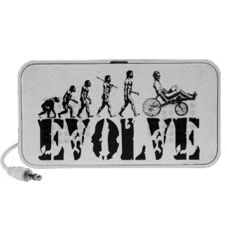 Recumbent Bicycle Evolution Fun Sports Art Laptop Speaker