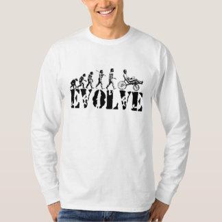 Recumbent Bicycle Evolution Fun Sports Art T Shirt