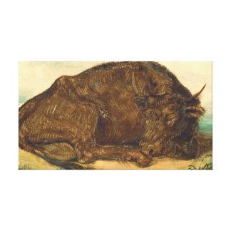 Recumbent Bull 1842 Stretched Canvas Print