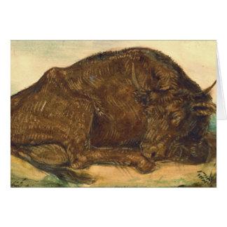 Recumbent Bull 1842 Cards