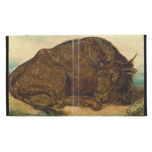 Recumbent Bull 1842 iPad Cases