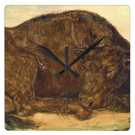 Recumbent Bull 1842 Wallclocks
