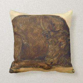 Recumbent Bull 1842 Pillow