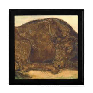 Recumbent Bull 1842 Keepsake Box