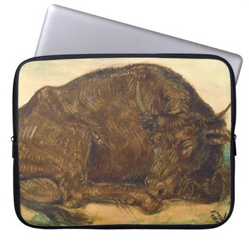 Recumbent Bull 1842 Laptop Computer Sleeve