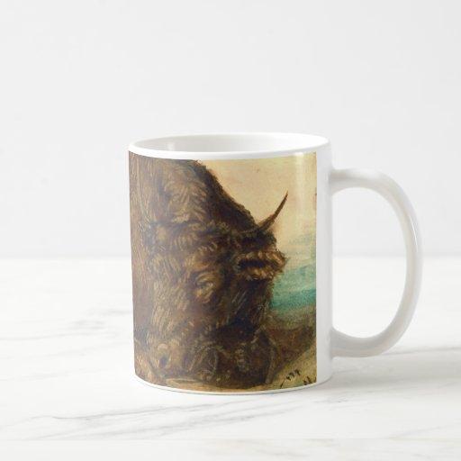 Recumbent Bull 1842 Coffee Mugs