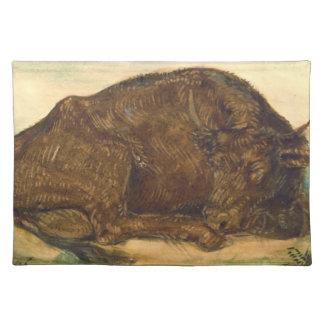 Recumbent Bull 1842 Place Mat