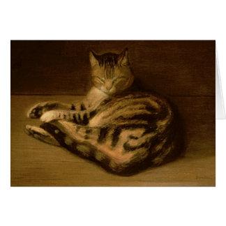 Recumbent Cat, 1898 Card