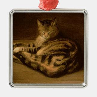 Recumbent Cat, 1898 Christmas Ornament
