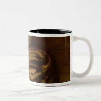 Recumbent Cat, 1898 Two-Tone Coffee Mug