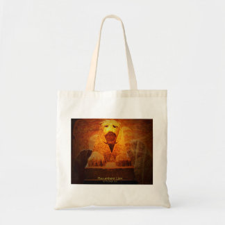 recumbent lion tote bag