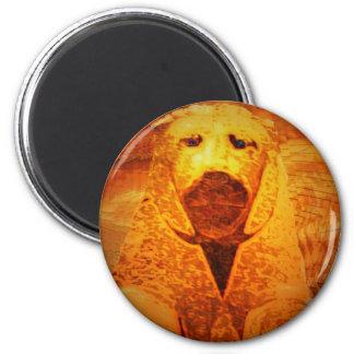 recumbent lion 6 cm round magnet