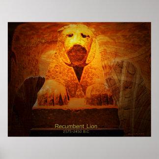 Recumbent Lion Posters