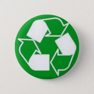 recycle 6 cm round badge