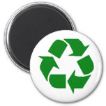 Recycle 6 Cm Round Magnet