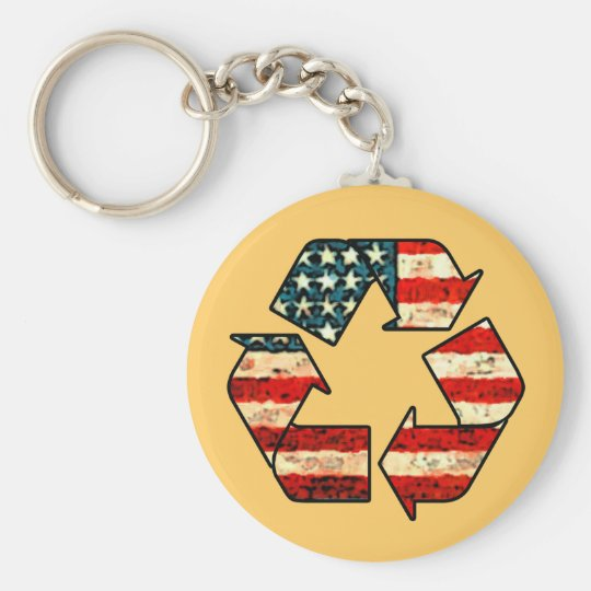 Recycle America Keychain