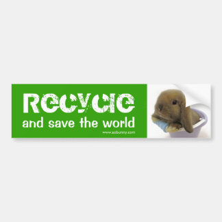 Recycle And Save The World - Bumper Sticker Car Bumper Sticker